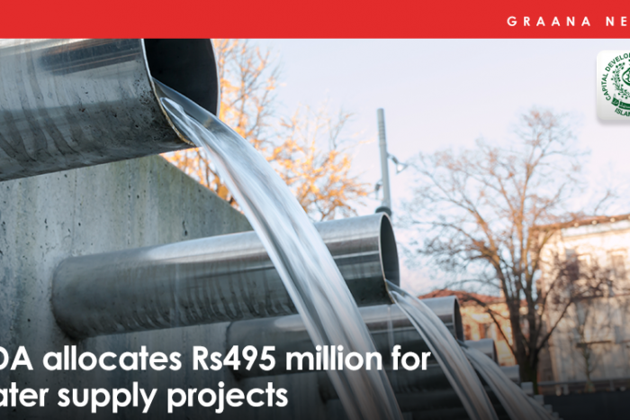CDA allocates Rs495 million for water supply projects