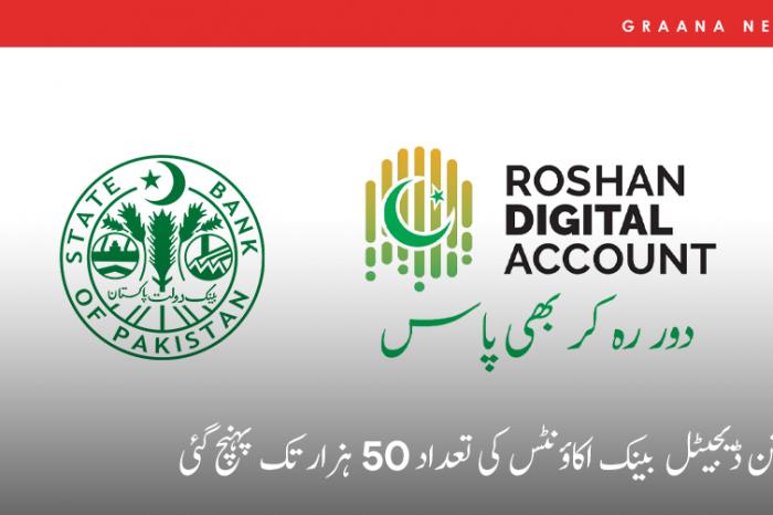 روشن ڈیجیٹل بینک اکاؤنٹس کی تعداد 50 ہزار تک پہنچ گئی