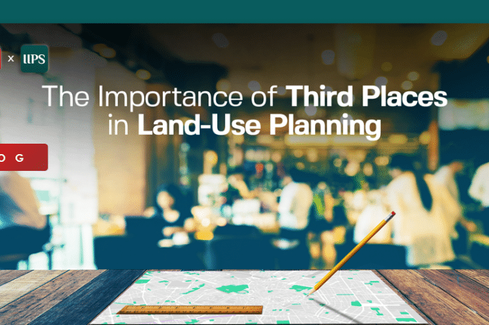 The Importance of Third Places in Land-Use Planning