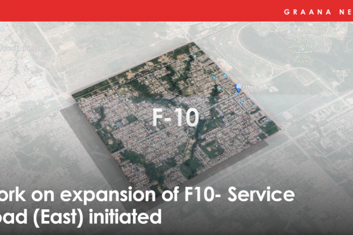 Work on expansion of F-10 Service Road (East) initiated