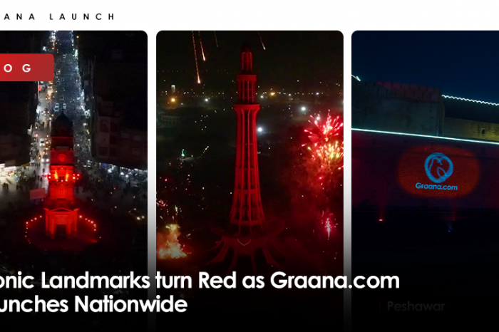 Iconic Landmarks turn Red as Graana.com Launches Nationwide