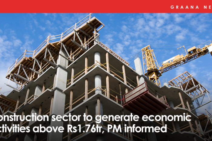 Construction sector to generate economic activities above Rs1.76tr, PM informed