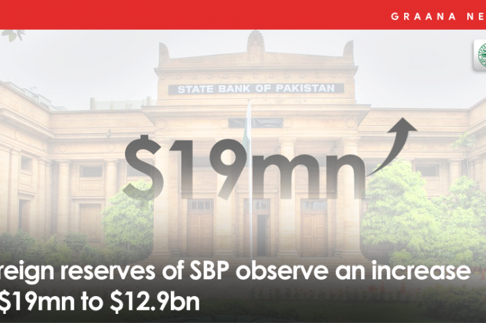 Foreign reserves of SBP observe an increase of $19mn to $12.9bn