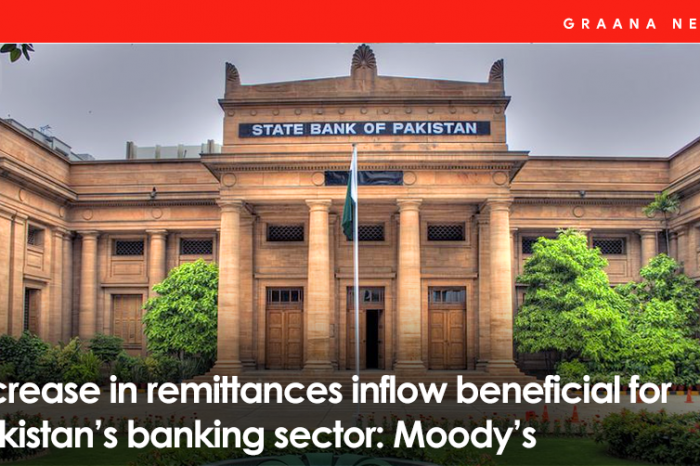 Increase in remittances inflow beneficial for Pakistan's banking sector: Moody's