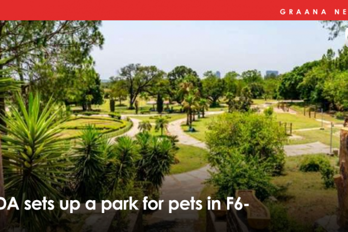 CDA sets up a park for pets in F-6