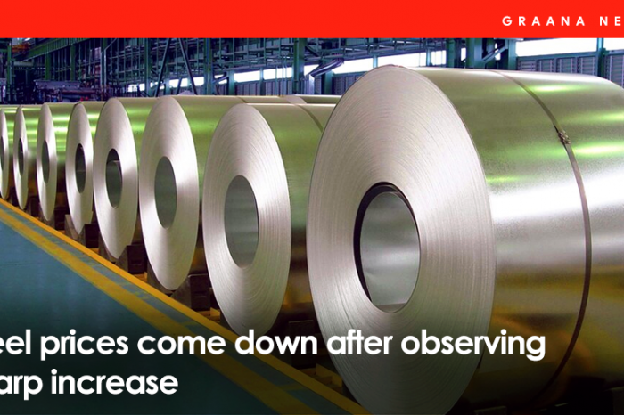 Steel prices come down after observing  sharp increase