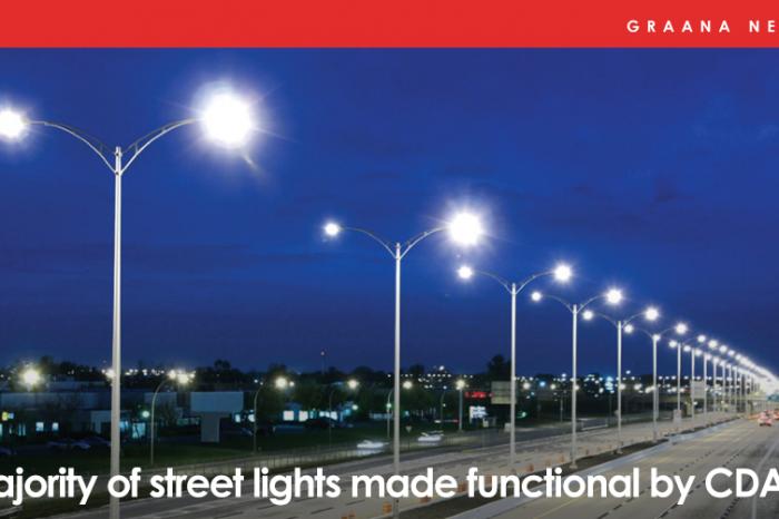 Majority of street lights made functional by CDA