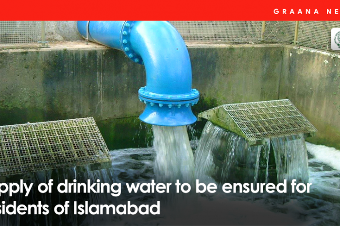 Supply of drinking water to be ensured for residents of Islamabad