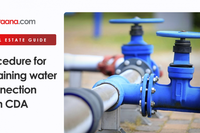 Procedure for obtaining water connection from CDA