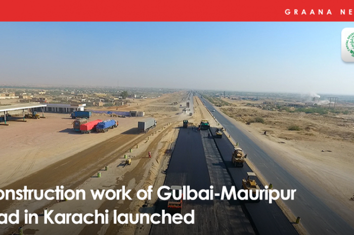 Construction work of Gulbai-Mauripur road in Karachi launched