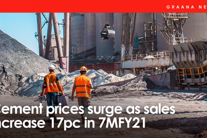 Cement prices surge as sales increase 17pc in 7MFY21