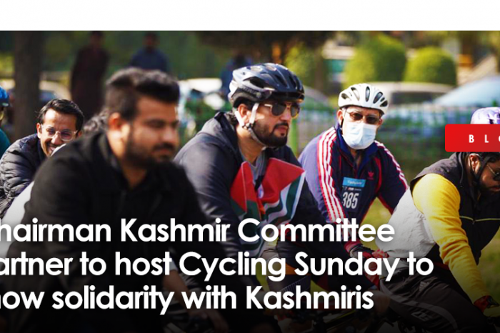 Graana.com, Chairman Kashmir Committee partner to host 'Cycling Sunday' to show solidarity with Kashmiris