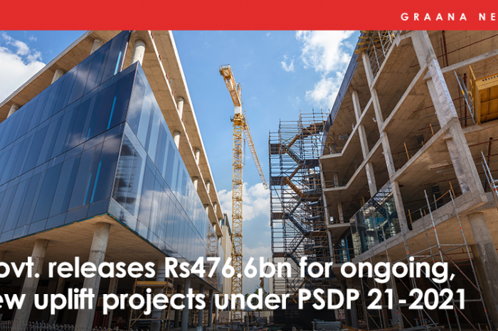 Govt. releases Rs476.6bn for ongoing, new uplift projects under PSDP 2021-21