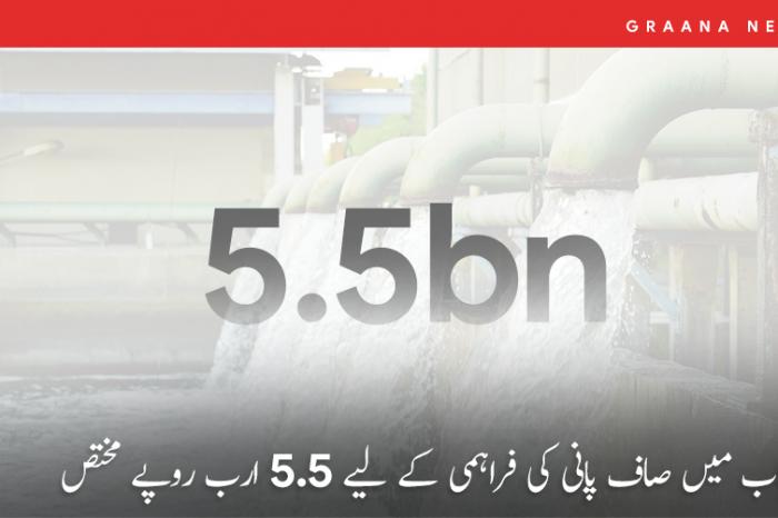 پنجاب میں صاف پانی کی فراہمی کے لیے 5.5 ارب روپے مختص