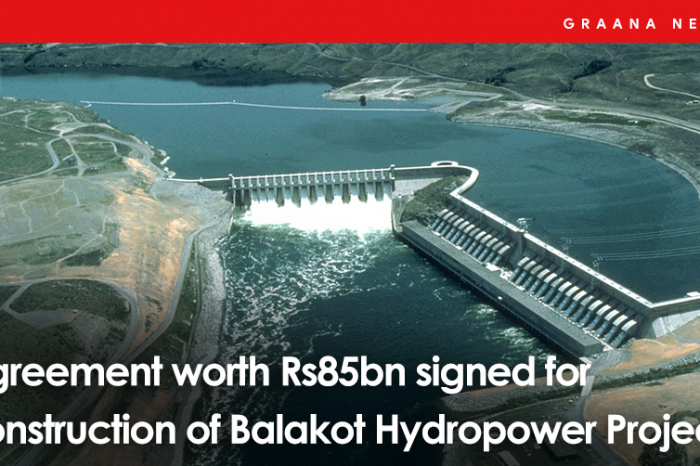 Agreement worth Rs85bn signed for construction of Balakot Hydropower Project