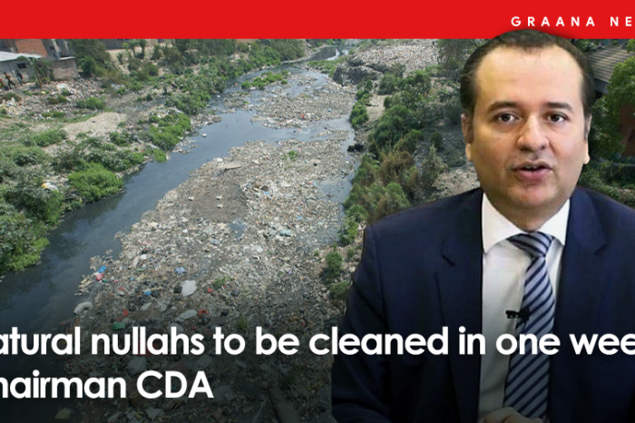 Natural nullahs to be cleaned in one week: Chairman CDA