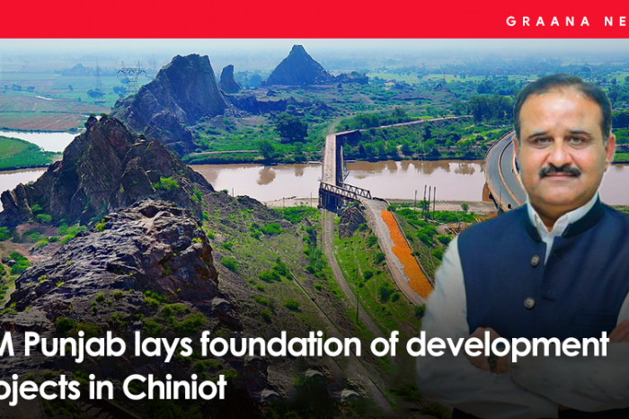 CM Punjab lays foundation of development projects in Chiniot