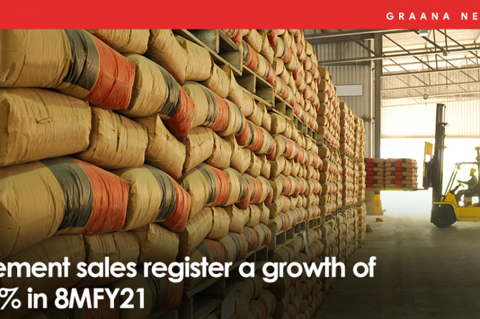 Cement sales register a growth of 14% in 8MFY21