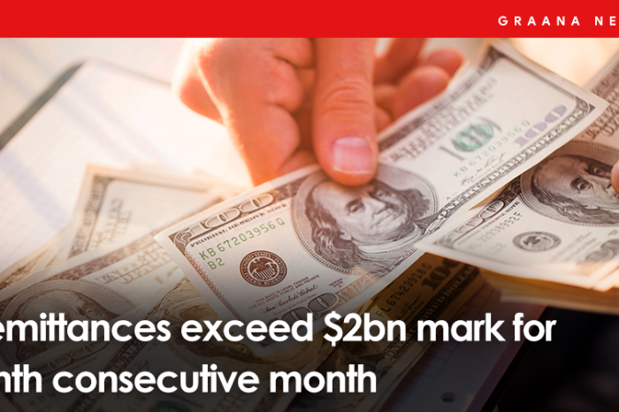 Remittances exceed $2bn mark for ninth consecutive month