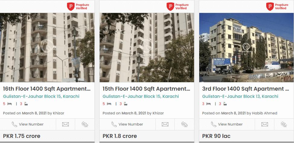 gulistan apartments for sale in karachi