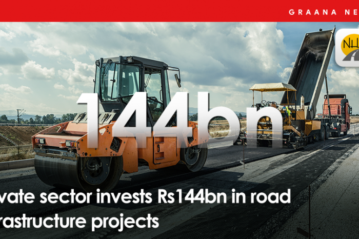 Private sector invests Rs144bn in road infrastructure projects