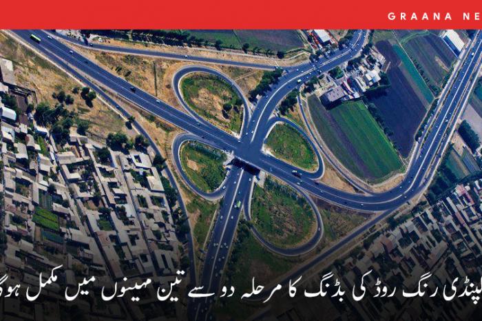 راولپنڈی رنگ روڈ کی بڈنگ کا مرحلہ دو سے تین مہینوں میں مکمل ہوگا