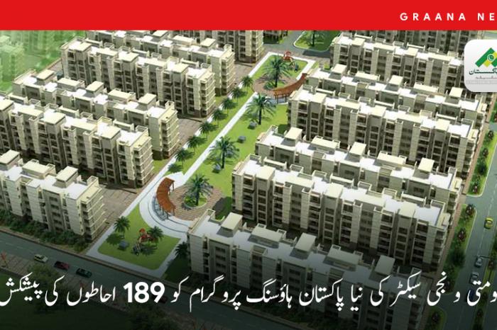 حکومتی و نجی سیکٹر کی نیا پاکستان ہاؤسنگ پروگرام کو 189 احاطوں کی پیشکش