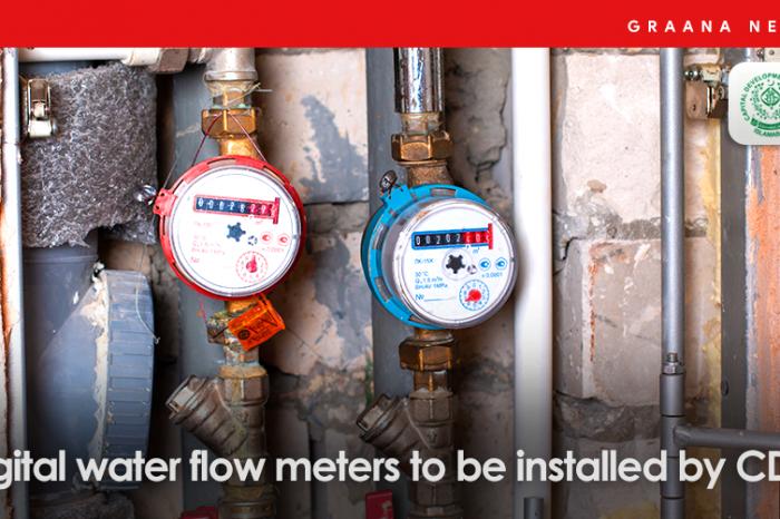 Digital water flow meters to be installed by CDA