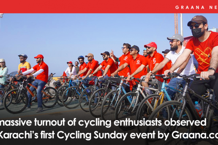A massive turnout of cycling enthusiasts observed at Karachi's first Cycling Sunday event by Graana.com