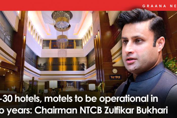 25-30 hotels, motels to be operational in two years: Chairman NTCB Zulfikar Bukhari