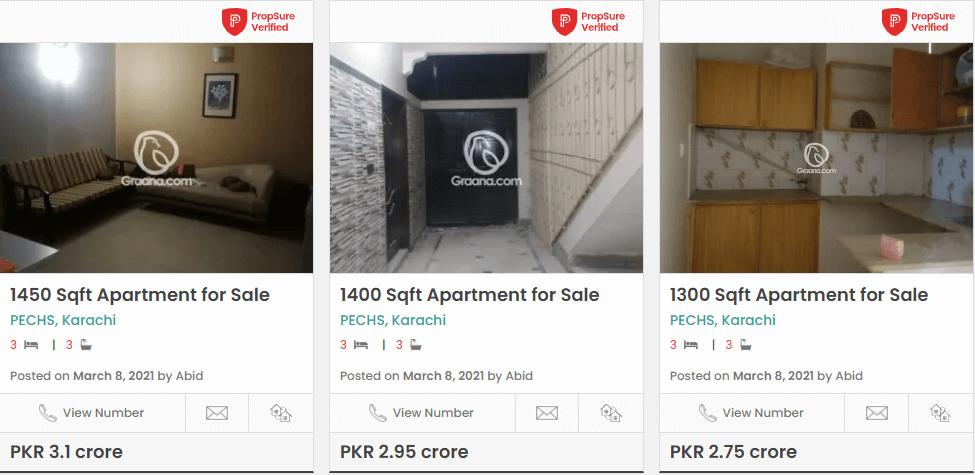 pechs apartments in karachi
