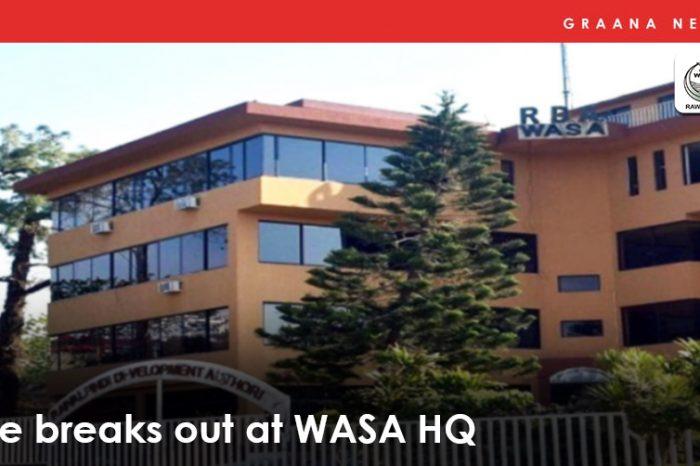 Fire breaks out in WASA HQ