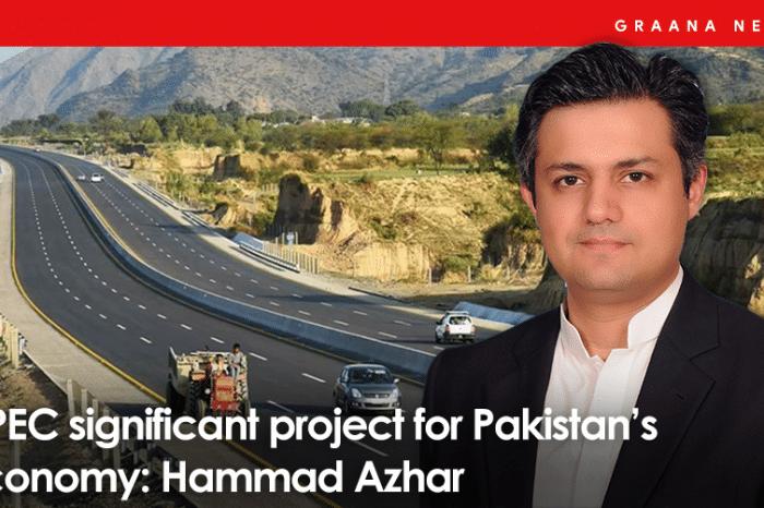 CPEC significant project for Pakistan's economy: Hammad Azhar