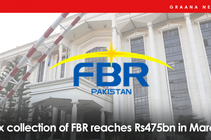 Tax collection of FBR reaches Rs475bn in March