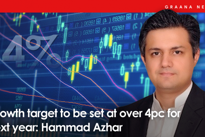 Growth target to be set at over 4pc for next year: Hammad Azhar