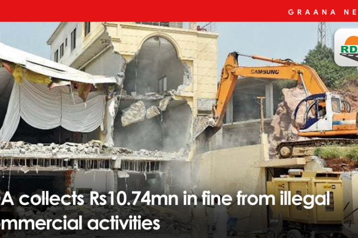 RDA collects Rs10.74mn in fine from illegal commercial activities