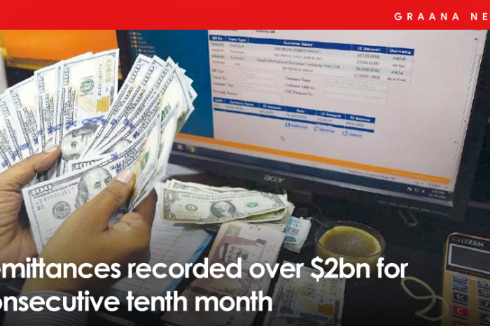 Remittances recorded over $2bn for consecutive tenth month