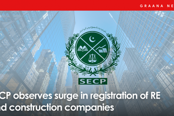 SECP observes surge in registration of RE and construction companies