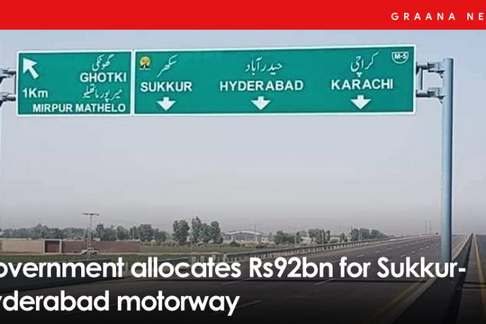 Government allocates Rs92bn for Sukkur-Hyderabad motorway