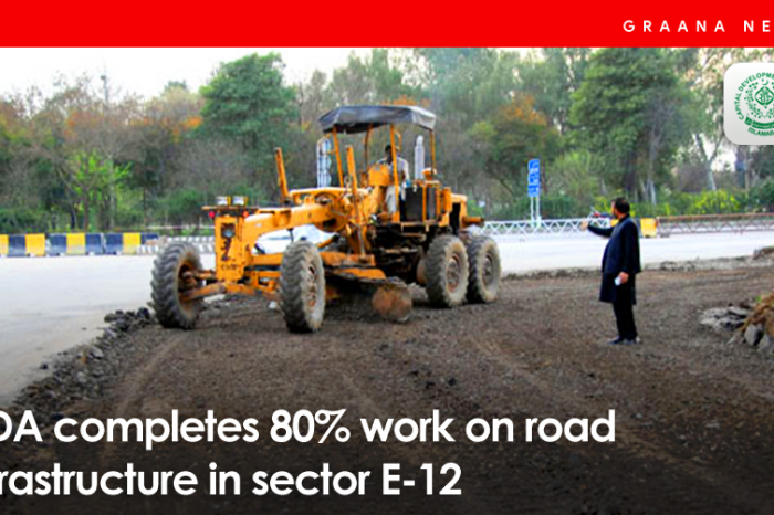 CDA completes 80% work on road infrastructure in sector E-12