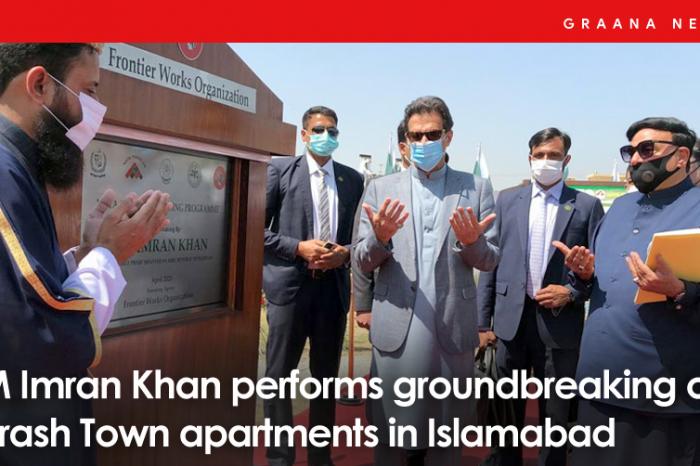 PM Imran Khan performs groundbreaking of Farash Town apartments in Islamabad
