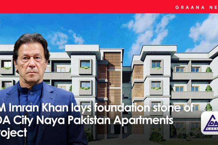 PM Imran Khan lays foundation stone of LDA City Naya Pakistan Apartments project