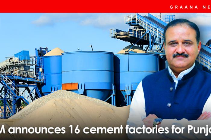 CM announces 16 cement factories for Punjab