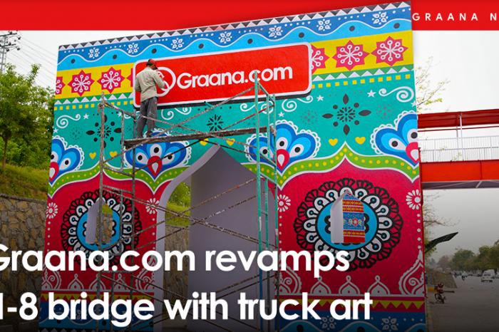 Graana.com revamps H-8 bridge with truck art