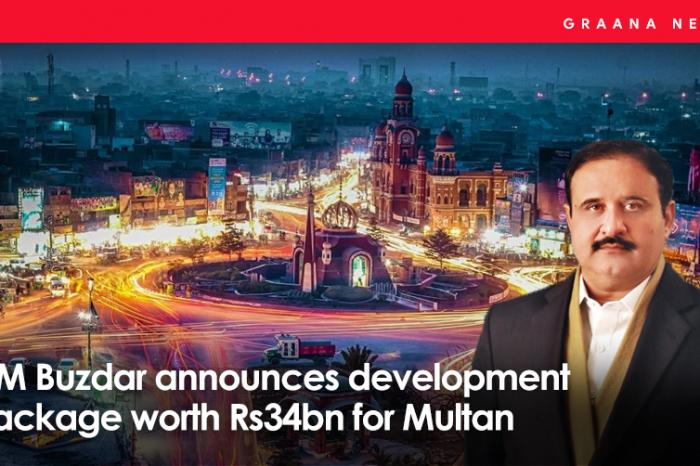 CM Buzdar announces development package worth Rs34bn for Multan
