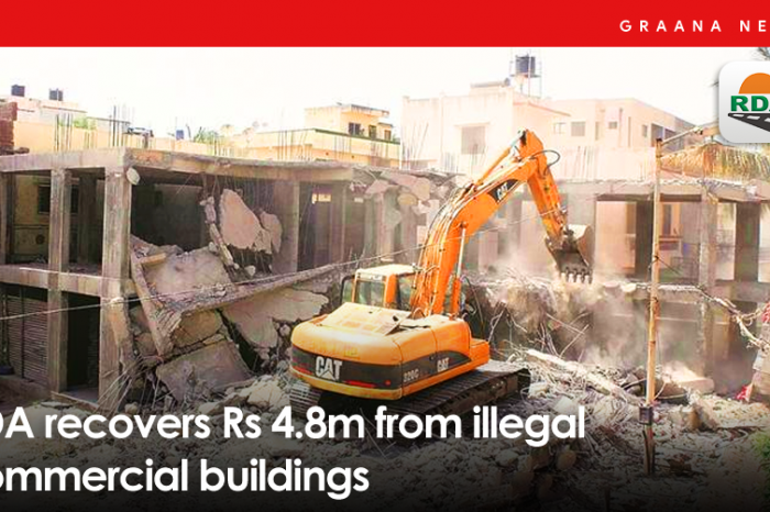 RDA recovers Rs 4.8m from illegal commercial buildings