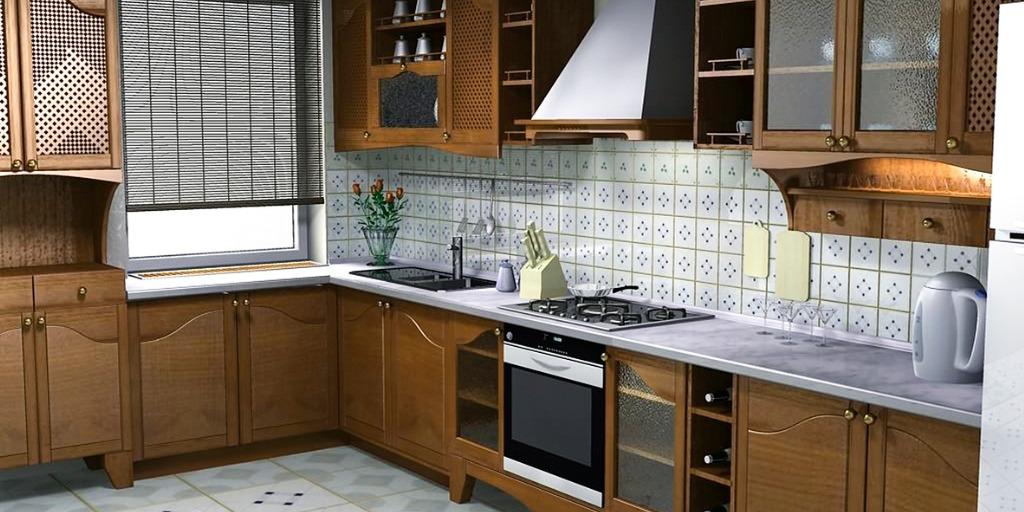 l shaped kitchen design in Pakistan