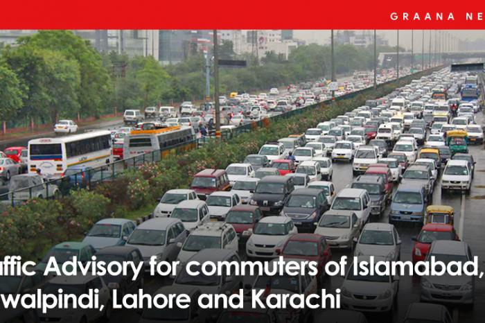 Traffic Advisory for Commuters of Islamabad, Rawalpindi, Lahore, and Karachi