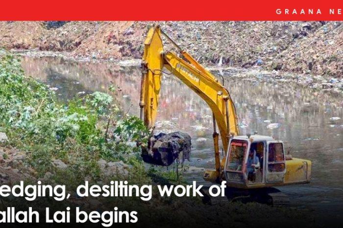 Dredging, desilting work of Nallah Lai begins