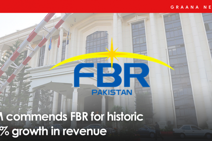 PM commends FBR for historic 16% growth in revenue
